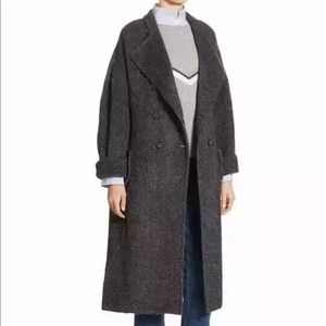 Brunello Cucinelli Charcoal Wool Trench Coat